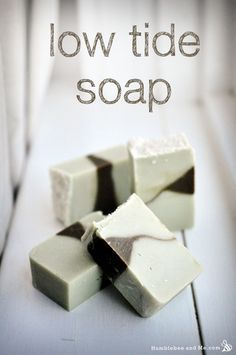 DIY Natural Low Tide Cole Process Soap Recipe made with Clay and Seaweed Powder