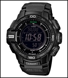 Casio Protrek Watches - Designed for Durability. Casio Protrek - Developed for Toughness Forget technicalities for a while. Let's eye a few of the finest things about the Casio Pro-Trek. Casio Protrek, Sport Watches, Cool Watches, Watches For Men, Wrist Watches, Solar Watch, Casio G Shock, Watch Brands, Shopping