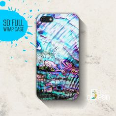 Abalone Shell Shiny texture iPhone 6, Plus, 5, 5s, 4, 4s, iPhone cover, Samsung Galaxy S3, S4, S5 - 3d full wrap - Printed abalone texture by CaseOcean on Etsy