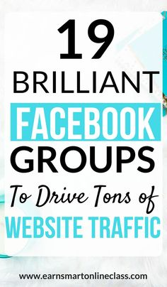 19 Brilliant Groups to Drive Tons of Website Traffic // Earn Smart Online Class -- Image Facebook, Design Facebook, How To Use Facebook, Facebook Marketing Strategy, Digital Marketing Strategy, Affiliate Marketing, Content Marketing, Social Media Marketing Business, Seo Marketing