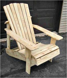 Pallet Outdoor Furniture Pallet Adirondack Chair - 17 Pallet Chair Plans to DIY for Your Home at No-Cost - DIY Wooden Pallet Projects, Wooden Pallet Furniture, Pallet Crafts, Wooden Pallets, Pallet Ideas, Diy Crafts, Pallet Wood, Outdoor Pallet, Pallet Patio