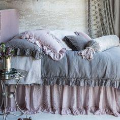 Bella Notte Duvet Cover Whisper Linen ~ powder rose twin
