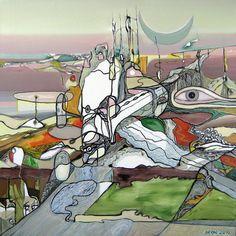 "Saatchi Art Artist Alexey Adonin; Painting, ""Biosphere"" #art"