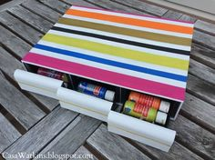 paint storage from upcycled cassette tape holder, crafts, repurposing upcycling, storage ideas