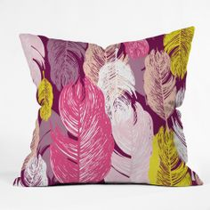 Rachael Taylor Funky Feathers Throw Pillow | DENY Designs Home Accessories