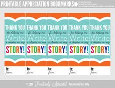 Appreciation Bookmark Sheet by Positively Splendid for Tatertots and Jello