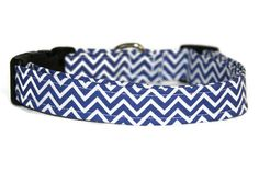 Blue Chevron Dog Collar by ALeashACollar on Etsy Handmade Dog Collars, Handmade Gifts, Blue Chevron, Belt, Personalized Items, Trending Outfits, Unique Jewelry, Dogs, Accessories