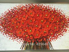 Aliexpress.com: Comprar Pared Pintura Flor de La Mano del cuchillo de paleta Pintada flor 3D textura Pintados A Mano Óleo de la Lona Pintura de Pared Cuadros Para la Sala de estar de mary jane zapatos de lona fiable proveedores en Eazilife Oil Painting