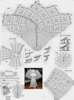 Letras e Artes da Lalá: anjo de crochê