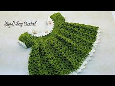 How to Crochet Lil' Sprout Baby Dress from 0-6 Months – Crafting Time