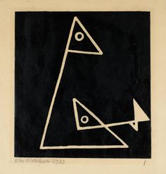 Foxy and Frankie, I - Ben Nicholson OM (Oil Paint and Relief Print on Paper) Abstract Words, Abstract Drawings, Framed Canvas Prints, Art Prints, Cubist Artists, Picasso Paintings, Art Paintings, Painting Still Life, London Art