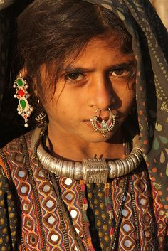 The Jat - one of the hidden tribes in Gujarat (India).    Dhaneta Jat girl.