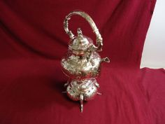 TIFFANY & CO. STERLING SILVER HOT WATER KETTLE BURNER GRAPES & FIGURE ORNATE #TiffanyCo