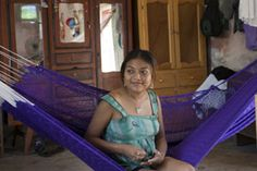 Real life - living in the Yucatan, using a Mayan hammock for everyday living.