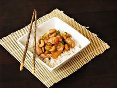 Cashew chicken with celery and pineapple