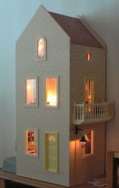 Nuevo alfombra verde pila de terciopelo Dollshouse para una casa de muñecas