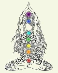 색으로 방향감 선으로 구체묘사 Tenemos 7 chakras principales, los cuales no son perceptibles físicamente ni los podemos ver, sólo SENTIR. 7 Chakras, Chakra Meditation, Chakra Healing, Chakra Art, Mindfulness Meditation, Meditation Symbols, Chakra Tattoo, Chakra Painting, Kundalini Tattoo
