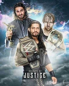 2015 superstar of the year slammy award winner Seth Rollins. The Intercontinental Champion Dean Ambrose. The WWE World Heavyweight Champion Roman Reigns