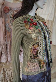 The time traveller II reworked cotton jacket by FleursBoheme