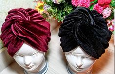 Fashion knot turban . Great for evening-wear or special events. We make readymade turbans and headbands, both for ladies and kids! Join us to keep updated with all the beauty we have to offer The turban is stretchy, light, and easy to wear! No tying involved, this turban is worn like a hat Measurements Please do not hesitate ask if you need additional information or clarification. Ill be happy to supply additional measurements. One Size like what you see for more colors and design https:...