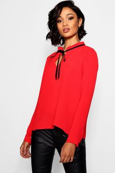 994731d869cc4b Charlotte Russe Tops Blouses. See more. Click here to find out about the  Alexis Tie Neck Chiffon Blouse from Boohoo