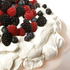This recipe for pavlova, a light meringue dessert, comes courtesy of actor Geoffrey Rush.