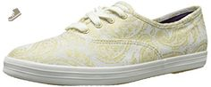 Keds Women's Champion Oversized Paisley Fashion Sneaker, Gold, 8.5 M US - Keds sneakers for women (*Amazon Partner-Link)