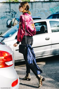MFW-Milan_Fashion_Week-Spring_Summer_2016-Street_Style-Say_Cheese-Bomber-Model_Off_Duty-
