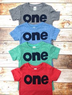 Colors- red, blue, grey, mint- boys 1st birthday shirt with navy one kids birthday theme first party