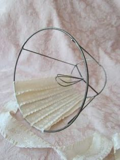 How to re cover a lampshade frame with an unusual shape including pingl par cmrecovering a lampshade tutorial keyboard keysfo Choice Image