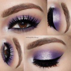 """✨ Ok I'm loving @colourpopcosmetics eye shadows  these are Leopard a gorgeous matte purple & Glitterati shimmer for days ✨ ✨✨ @tartecosmetics Tartiest…"""