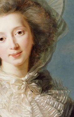 La Vicomtesse de Vaudreuil (Détail) Elisabeth Vigée-Le Brun 1785