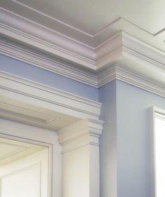 From the Portfolio of John B. Exterior Trim, Exterior Design, Trim Carpentry, Plafond Design, Bedroom False Ceiling Design, Wall Molding, Crown Molding, Ceiling Treatments, Ceiling Detail