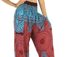 Thai pants boho clothing the flower pants meditation pants gypsy clothes naluck boho hippie elephant hippie yoga elephant yoga apparel   Multiple uses Wear the stylish pants wherever you want to be it a ladies day out, beach party, gym, hula hoop,yoga class, jogging sessions, or to bed.