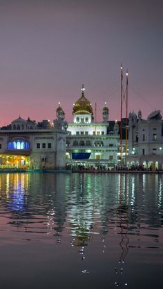 amritsar, india, punjab, city, evening, temple, harmandir sahib, water, reflection