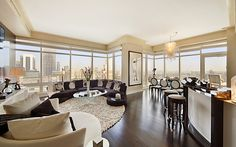 Party pad in New York City-This three-bedroom apartment on the Upper East side of Manhattan comes with a 750sq ft roof terrace, giving guests an unparalleled view of the action. It is a great place to wake up on New Year's Day, too.