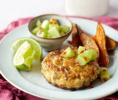 Low in both calories and fat, this Thai chicken burger recipe is a relatively quick and zingy supper.