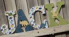 Dinosaur Theme Nursery Letters Dino Letters by WanderlustbyAlissa