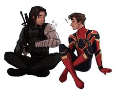 give me spidey/winter soldier interactions in a:iw or give me death