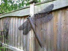 how to make dragon flys for the garden - Google Search