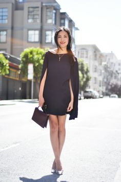 9to5Chic...love a cape dress.  Need