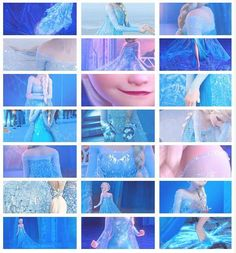 The most beautiful ice dress - Elsa - Frozen