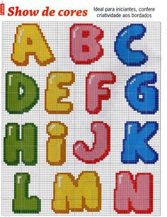 "Bubble Alphabet Letters A - N ""Show the Colors"" ............. Fazendo artes by Vandinha: monogramas"
