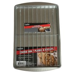 Baking pan with 2 cooling racks - 9x13 cookie sheet - Cooler rack 8.75 x 13 fits in quarter sheet - Use the rimmed baking sheet for cookies, croissants, pizza or more - Best value set for home bakery >> Sensational bargains just a click away : Baking necessities
