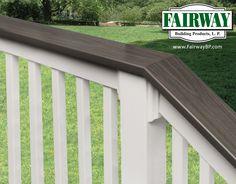 Fairway Vinyl Railing with Deck Board Cap Rail  Porch and Deck Railing Vinyl • Composite • Aluminum Railing Systems • Specialty Railing Systems Railing Accessories • POST Sleeves & Wraps Fencing • PORCH Posts & Columns