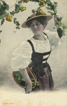 Vaudoiserin, Schweiz, Postkarte, ca. 1900