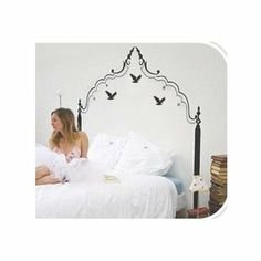 Wall Art - Bedhead and Birds - Bedhead & Birds Wall Art Stickers, Excellent smooth surfaces such as painted walls and doors, mirrors and glass. Victorian Chair, Quirky Gifts, Wisdom, Birds, Wall Art, Furniture, Home Decor, Decoration Home, Room Decor