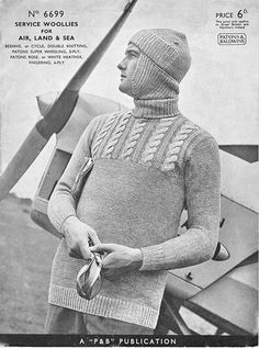 This airman in the photo looks particularly dashing in a sweater with a built-in woolen helmet. (My RCAF veteran father Douglas Florence told me that if you were allergic to wool, as he was, you suffered in silence. He spent his entire service career scratching!)