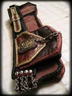 Steampunk Leather Utility Belt by ahniradvanyi on Etsy