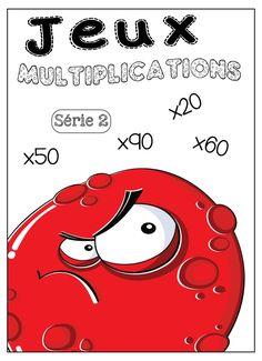 Jeux tables de multiplication Jeux à imprimer et télécharger. SERIE 2. … Math 5, Daily Math, Math Multiplication, 4th Grade Math, Math Tables, Homeschool Math, Cycle 3, Brain Teasers, Worksheets For Kids